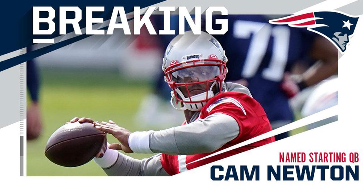 Cam Newton QB New England Patriots