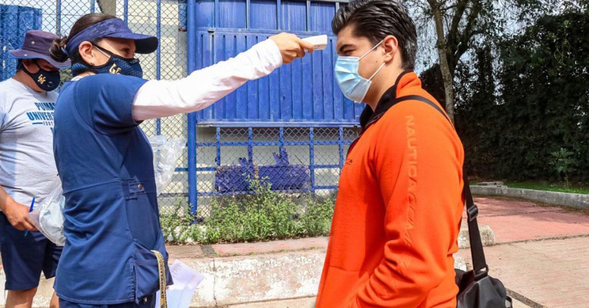 Los jugadores de Pumas CU regresaron al campo de entrenamiento